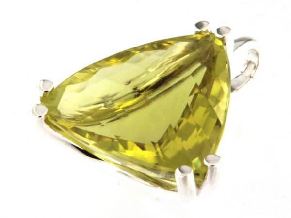 Anhänger Silber mit Lemon Quarz Triangel