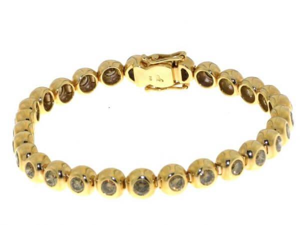 Armband Roségold mit braunen Brillanten