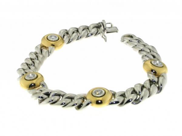Armband 750 Gelb/Weißgold mit Brillanten