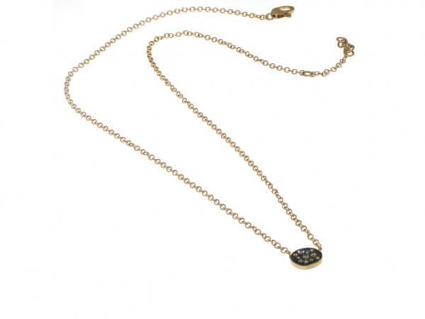 Collier Roségold und braune Diamanten
