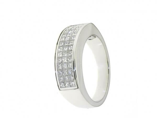Ring 750WG Princess Diamanten