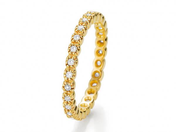 Ring aus Gelbgold mit Brillanten 0,22ct