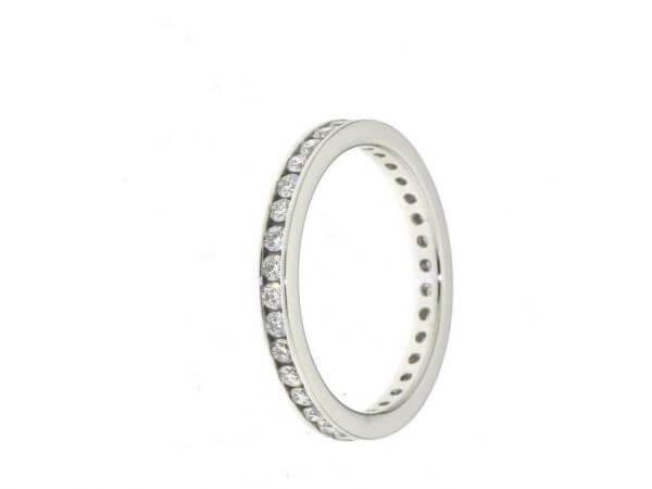 Memoire Ring Weißgold mit 0,70ct Brill.