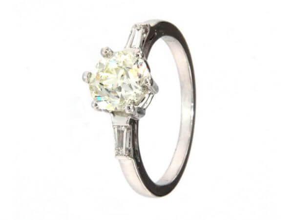 Solitärring Weißgold Diamant 1,517 ct