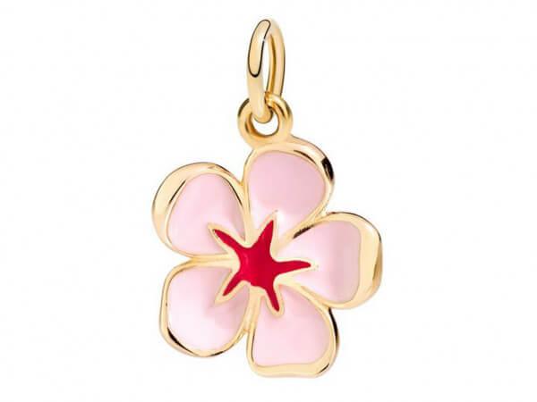 Dodo Anhänger Kirschblüte rosa Emaille