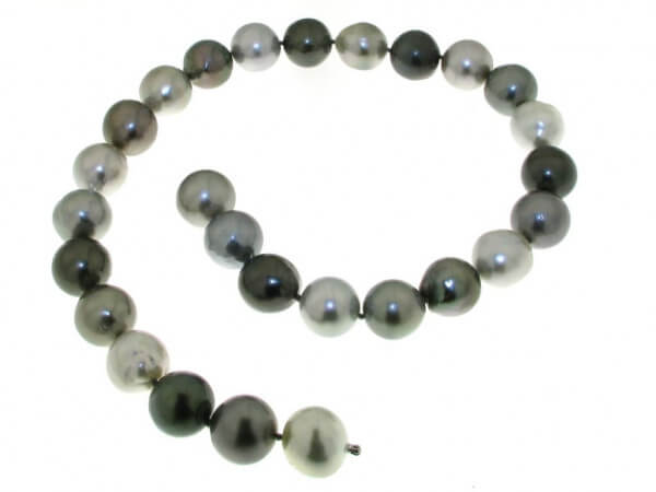 Tahiti Perlkette 16-17,4 mm barock