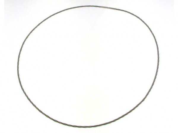 Edelstahl Collier 1,8 mm geflochten