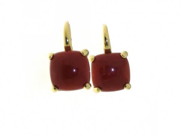 Ohrringe 750 Gelbgold Moreaux Koralle