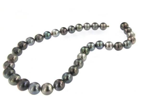 Tahiti Perlkette multicolor 12-13 mm