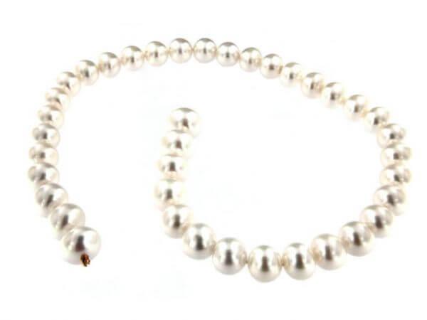 Südsee Perlkette 11-14,2 mm mit Schließe