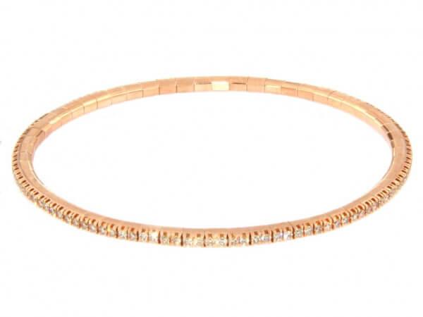 Armband flexibel Roségold und Brillanten