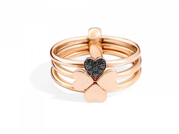 Dodo Ring mit 4 Herzen aus Roségold