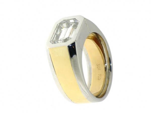 Ring 950 Platin/750Gelbgold Diamant 3,01