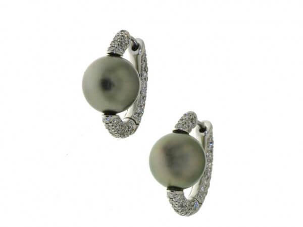 Ohrringe mit Tahiti Perle und Brillanten