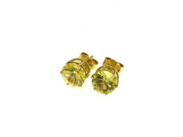 Ohrstecker Gelbgold mit gelben Safiren