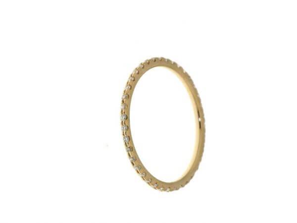 Memoire Ring Gelbgold mit 39 Brillanten