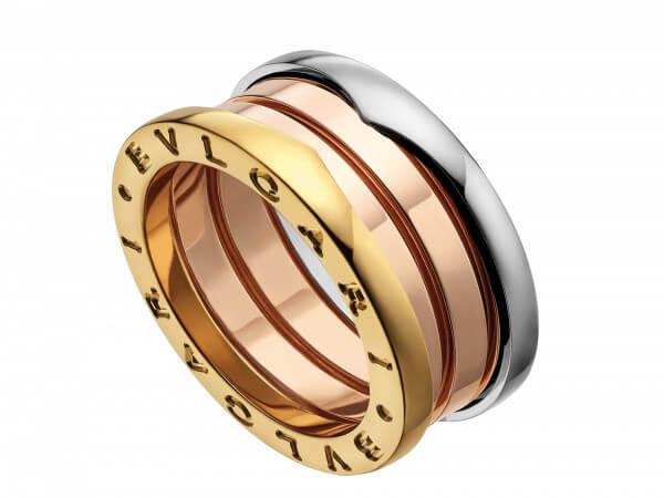 Bulgari Bzero1 Ring 3 Bänder tricolor