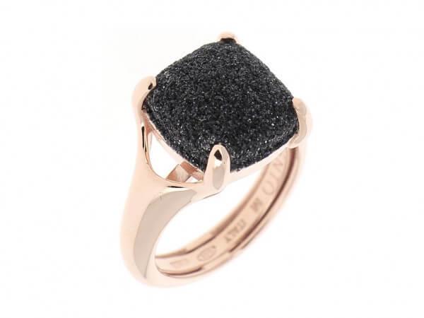Pesavento Ring mit polvere in schwarz